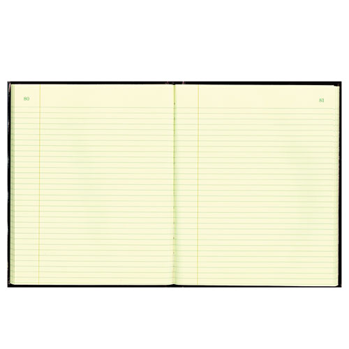 Texthide Record Book, Black/Burgundy, 150 Green Pages, 10 3/8 x 8 3/8. Picture 1