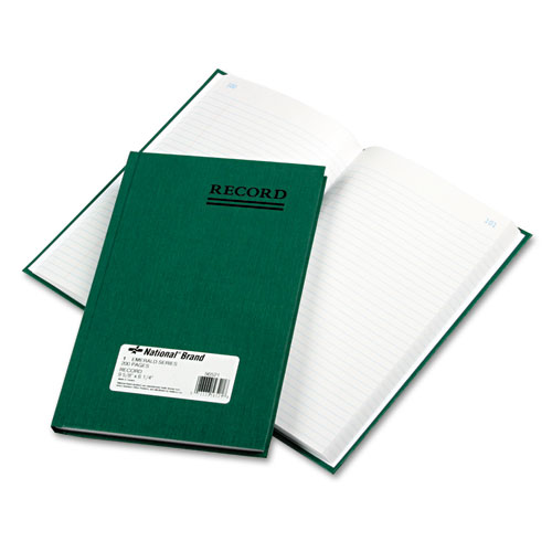 Emerald Series Account Book, Green Cover, 200 Pages, 9 5/8 x 6 1/4. Picture 1