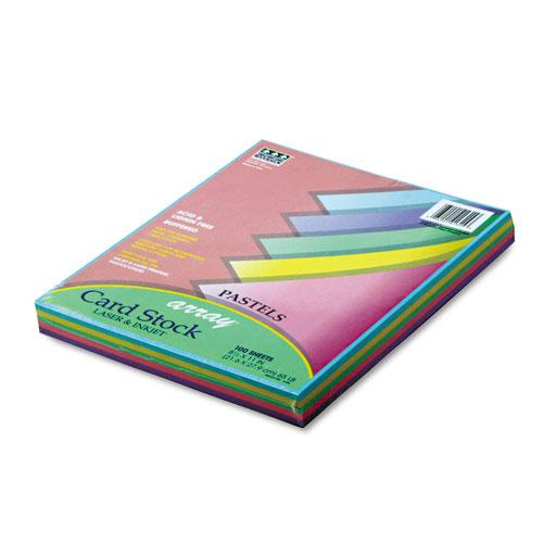 Array Card Stock, 65lb, 8.5 x 11, Assorted Pastel Colors, 100/Pack. Picture 1