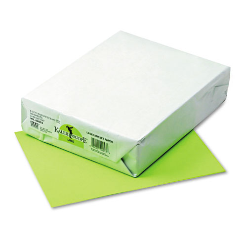 Kaleidoscope Multipurpose Colored Paper, 24lb, 8.5 x 11, Lime, 500/Ream. Picture 1