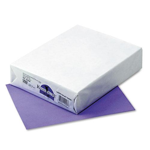 Kaleidoscope Multipurpose Colored Paper, 24lb, 8.5 x 11, Violet, 500/Ream. Picture 1
