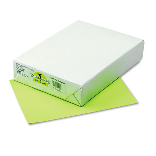Kaleidoscope Multipurpose Colored Paper, 24lb, 8.5 x 11, Hyper Lime, 500/Ream. Picture 1