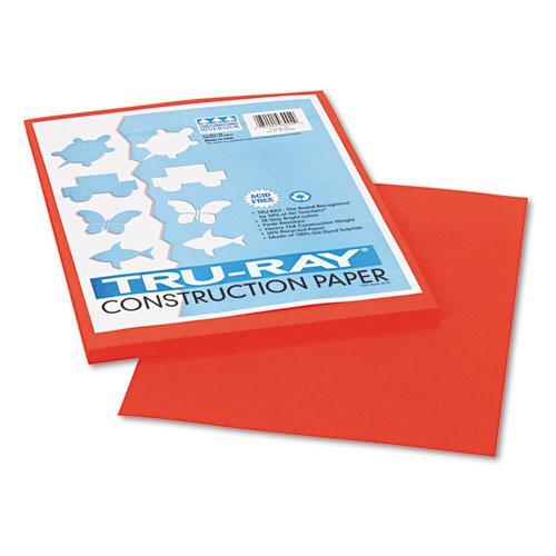 Tru-Ray Construction Paper, 76lb, 9 x 12, Orange, 50/Pack. Picture 1