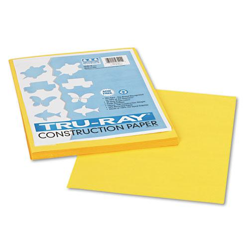 Tru-Ray Construction Paper, 76lb, 9 x 12, Yellow, 50/Pack. Picture 1