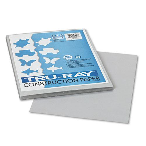 Tru-Ray Construction Paper, 76lb, 9 x 12, Gray, 50/Pack. Picture 1