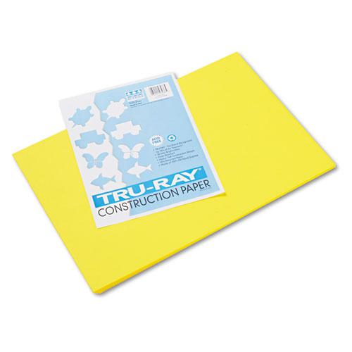 Tru-Ray Construction Paper, 76lb, 12 x 18, Yellow, 50/Pack. Picture 1