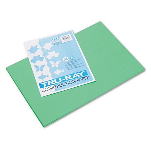Tru-Ray Construction Paper, 76lb, 12 x 18, Festive Green, 50/Pack. Picture 1