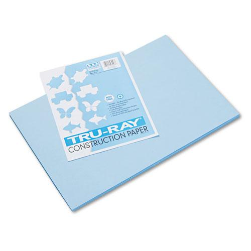 Tru-Ray Construction Paper, 76lb, 12 x 18, Sky Blue, 50/Pack. Picture 1