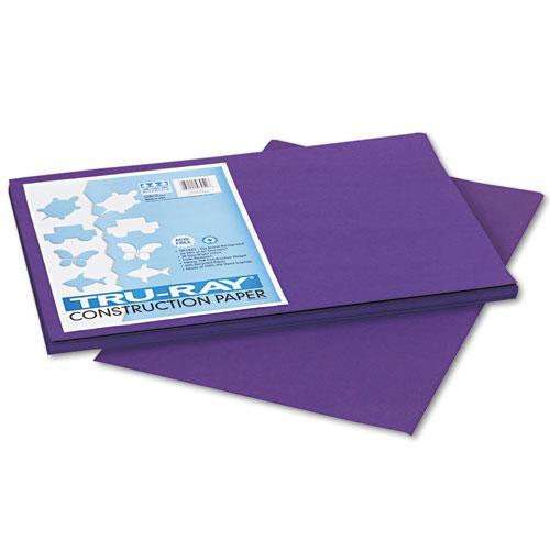 Tru-Ray Construction Paper, 76lb, 12 x 18, Purple, 50/Pack. Picture 1