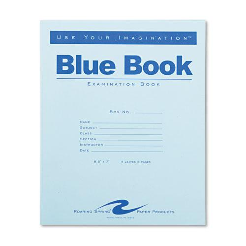 Examination Blue Book, Wide/Legal Rule, 8.5 x 7, White, 4 Sheets. Picture 1