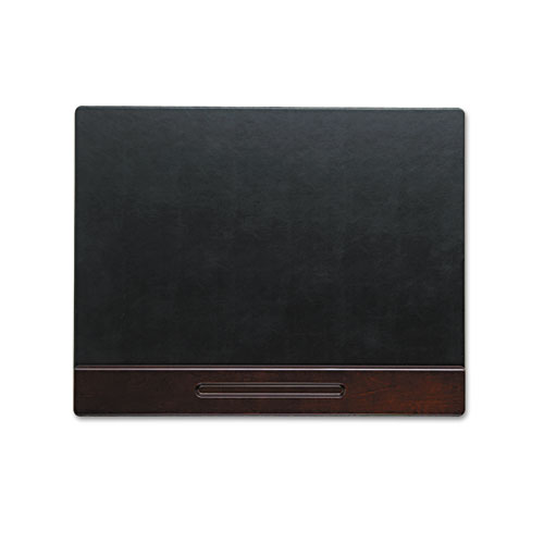 Wood Tone Desk Pad, Mahogany, 24 x 19. Picture 1