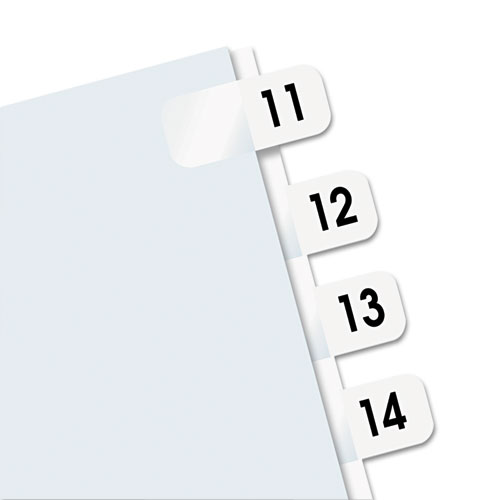 """Legal Index Tabs, 1/12-Cut Tabs, 11-20, White, 0.44"""" Wide, 104/Pack. Picture 2"""