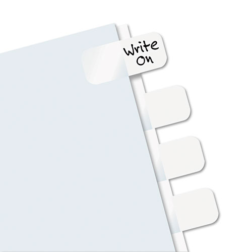 """Legal Index Tabs, 1/5-Cut Tabs, White, 1"""" Wide, 416/Pack. Picture 2"""