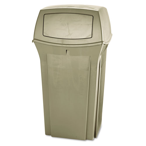 Ranger Fire-Safe Container, Square, Structural Foam, 35 gal, Beige. Picture 1