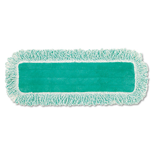 "Dust Pad with Fringe, Microfiber, 18"" Long, Green. Picture 1"