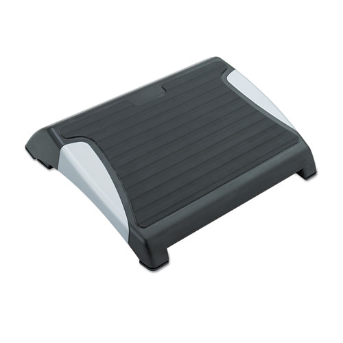 Restease Adjustable Footrest, 15.5w x 13.75d x 3.25 to 5h, Black/Silver. Picture 1