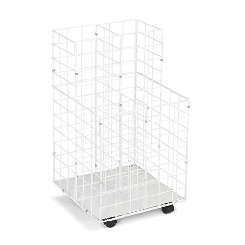 Wire Roll Files, 4 Compartments, 16.25w x 16.5d x 30.5h, White. Picture 2