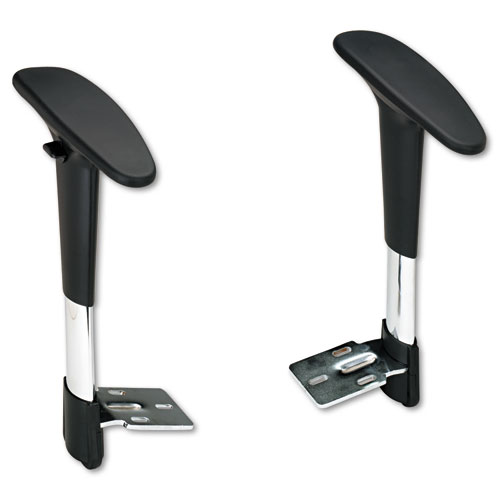 Adjustable T-Pad Arms for Metro Series Extended-Height Chairs, Black/Chrome. Picture 1