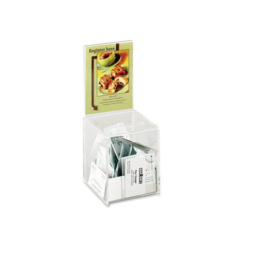 Small Acrylic Collection Box, 5 1/2 x 5 1/2 x 13, Clear. Picture 1