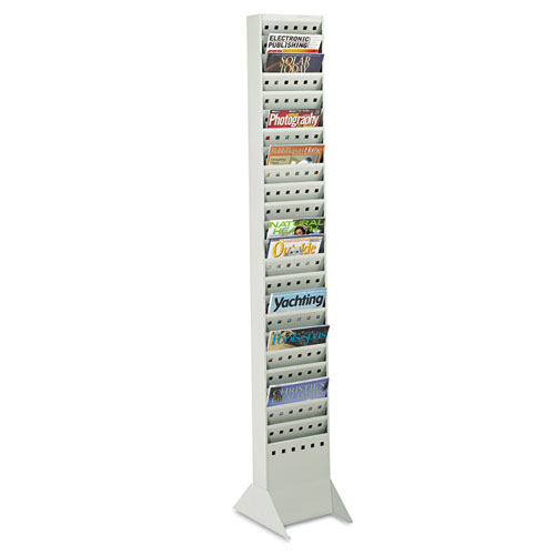 Steel Base for Magazine Rack, Gray, 10w x 14d x 5-1/4, Gray. Picture 1