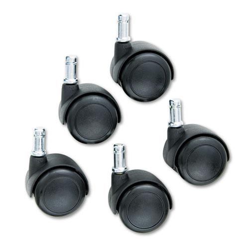 TaskMaster Hard Floor Casters, Black, 5/Set. Picture 1