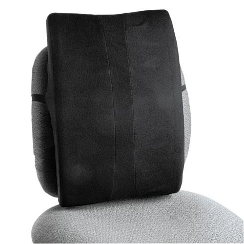 Remedease Full Height Backrest, 14w x 3d x 19.5h, Black. Picture 1