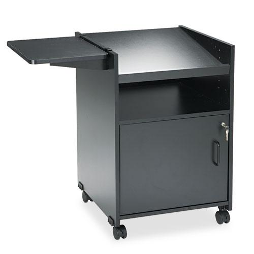 Economy Mobile Computer/Projector Stand, Two-Shelf, 19.5w x 20.5d x 30h, Black. Picture 1