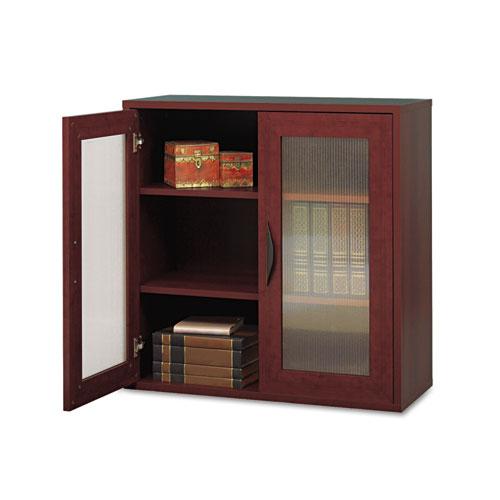 Après Two-Door Cabinet, 29-3/4w x 11-3/4d x 29-3/4h, Mahogany. Picture 1