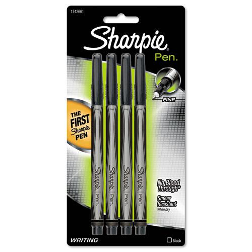 Plastic Point Stick Water Resistant Pen Black Ink Fine