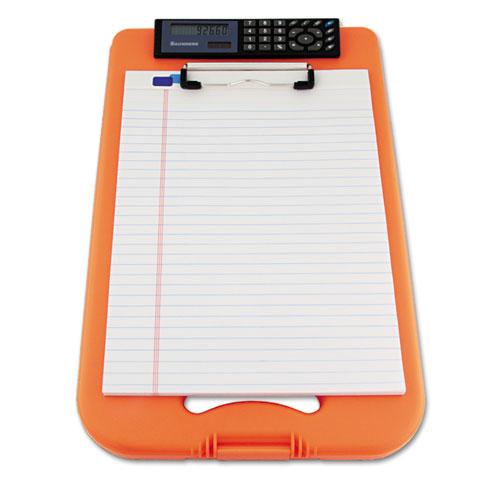 """DeskMate II w/Calculator, 1/2"""" Clip Cap, 8 1/2 x 12 Sheets, Hi-Vis Orange. Picture 2"""