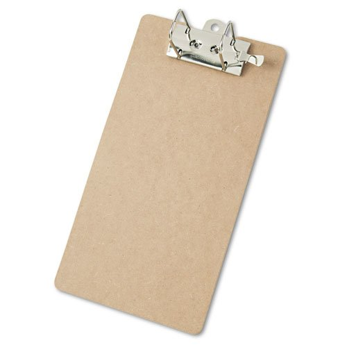 """Recycled Hardboard Archboard Clipboard, 2"""" Clip Cap, 8 1/2 x 14 Sheets, Brown. Picture 1"""
