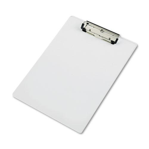 """Acrylic Clipboard, 1/2"""" Capacity, Holds 8-1/2w x 12h, Clear. Picture 1"""