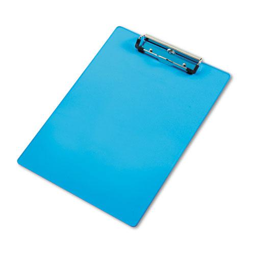 """Acrylic Clipboard, 1/2"""" Capacity, Holds 8-1/2w x 12h, Transparent Blue. Picture 1"""