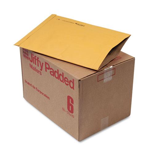 Jiffy Padded Mailer, #6, 12 1/2 x 19, Natural Kraft, 50/Carton. Picture 1