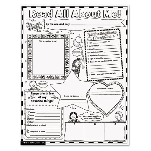 Instant Personal Poster Sets Read All About Me Quot X Pack: All About Me Worksheet Pdf At Alzheimers-prions.com