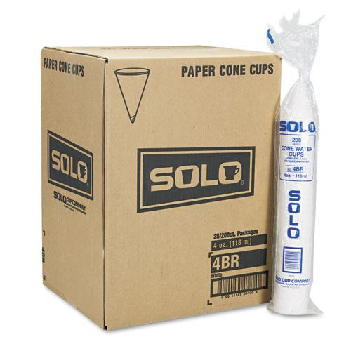 Cone Water Cups, Cold, Paper, 4oz, White, 200/Bag, 25 Bags/Carton. Picture 2