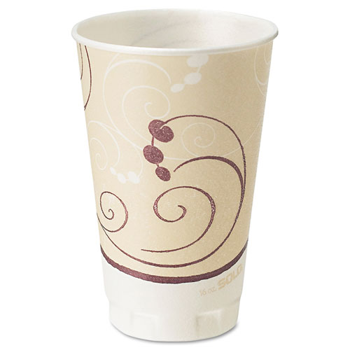 Symphony Design Trophy Foam Hot/Cold Drink Cups, 20oz, Beige, 750/Carton. Picture 1