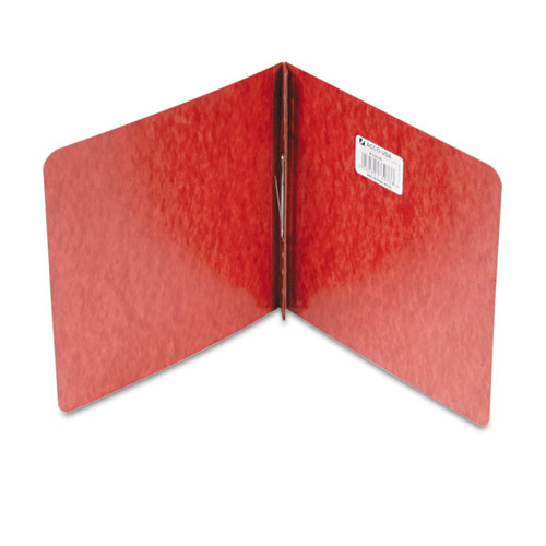 """Pressboard Report Cover, Prong Clip, 8-1/2 x 8-1/2, 2"""" Capacity, Red. Picture 1"""