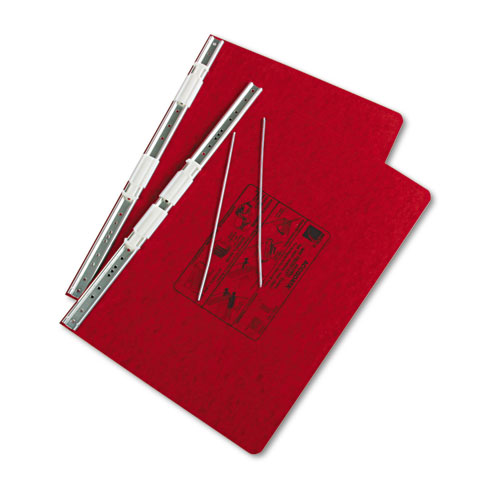 """PRESSTEX Covers with Storage Hooks, 2 Posts, 6"""" Capacity, 14.88 x 8.5, Executive Red. Picture 2"""