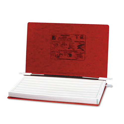 """PRESSTEX Covers with Storage Hooks, 2 Posts, 6"""" Capacity, 14.88 x 8.5, Executive Red. Picture 1"""