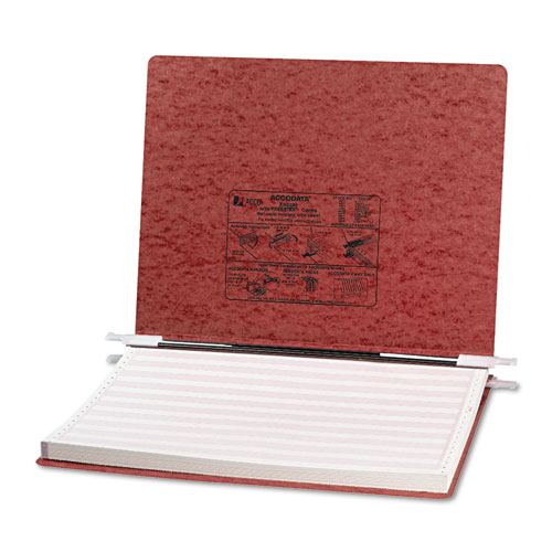 """PRESSTEX Covers with Storage Hooks, 2 Posts, 6"""" Capacity, 14.88 x 11, Red. Picture 1"""