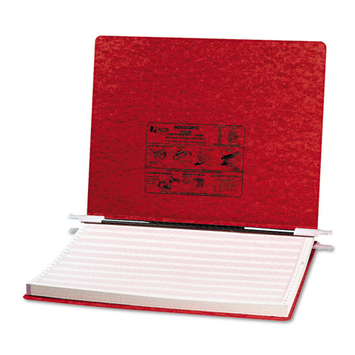 "PRESSTEX Covers with Storage Hooks, 2 Posts, 6"" Capacity, 14.88 x 11, Executive Red. Picture 1"
