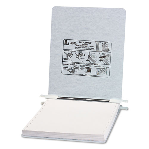 """PRESSTEX Covers with Storage Hooks, 2 Posts, 6"""" Capacity, 9.5 x 11, Light Gray. Picture 1"""