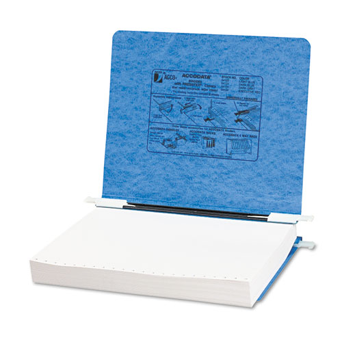 """PRESSTEX Covers with Storage Hooks, 2 Posts, 6"""" Capacity, 11 x 8.5, Light Blue. Picture 1"""