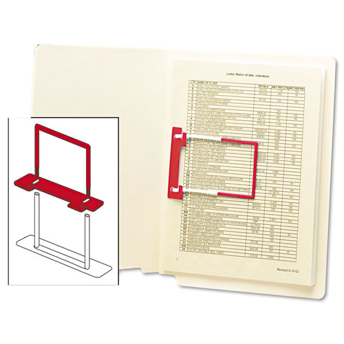 """U-Clip Bonded Fasteners, 2"""" Capacity, 2.75"""" Center to Center, Red/White, 100/Box. Picture 3"""