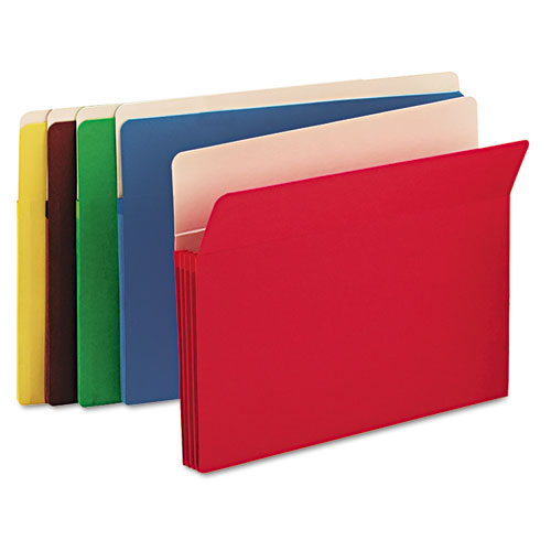 """Colored File Pockets, 3.5"""" Expansion, Letter Size, Assorted, 25/Box. Picture 2"""
