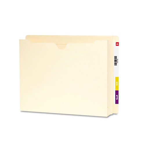 """Heavyweight End Tab File Jacket with 2"""" Expansion, Straight Tab, Letter Size, Manila, 25/Box. Picture 2"""