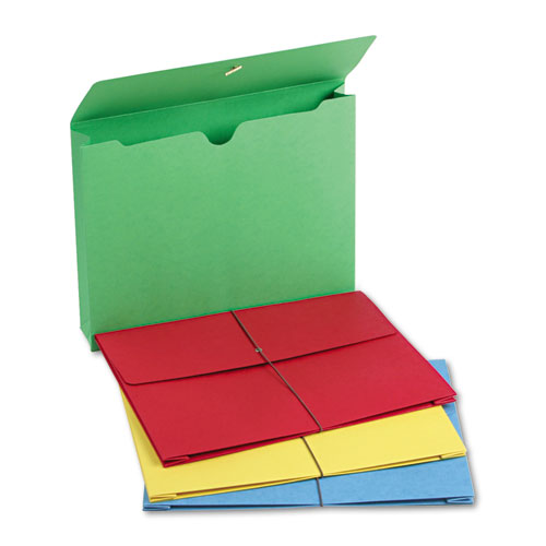 """Expanding Wallet w/ Elastic Cord, 2"""" Expansion, 1 Section, Letter Size, Assorted, 50/Box. Picture 4"""