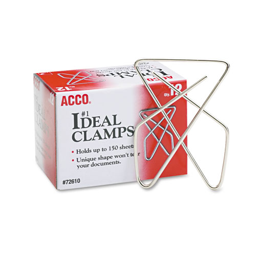 Ideal Clamps, Large (No. 1), Silver, 12/Box. Picture 1