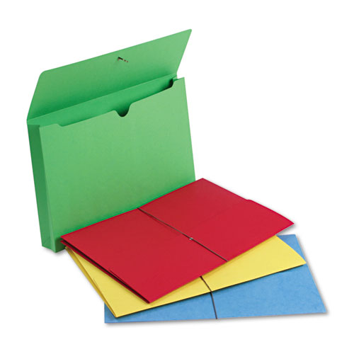 """Expanding Wallet w/ Elastic Cord, 2"""" Expansion, 1 Section, Legal Size, Assorted, 50/Box. Picture 1"""